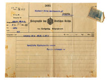 An antique telegram Royalty Free Stock Images