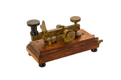 Antique telegraph isolated. Royalty Free Stock Photography