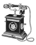 Antique telephoen. Vector illustration of an antique telephone Royalty Free Stock Photo