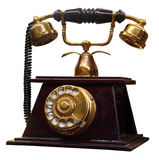 Antique Telephone. Isolated with clipping path Royalty Free Stock Photography