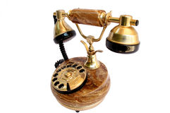 Antique telephone. Old telephone on white background,Telecommunication, Media Technologies Royalty Free Stock Photography