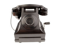 Antique telephone. Isolated on white background Stock Photo