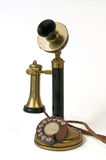 Antique telephone. Candlestick type telephone in use in Portugal in the early 20th century Stock Images