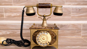 Antique telephone. Home telephone, Vintage telephone, abstract of communication Royalty Free Stock Images