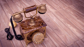 Antique telephone. Home telephone, Vintage telephone, abstract of communication Royalty Free Stock Image