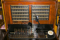Antique telephone switchboard Stock Photography