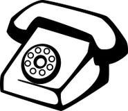 Antique telephone vector illustration Stock Photos