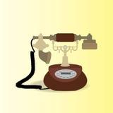 Antique Telephone. Vintage Appliances, Antique Telephone, Vector illustration Stock Images