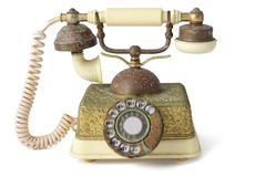 Antique Telephone. On White Background Stock Photography