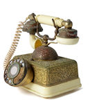 Antique Telephone. On White Background Royalty Free Stock Photo