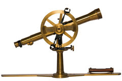 Antique telescopic measuring instrument Stock Photography