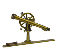 Antique telescopic measuring instrument. Old measuring instrument of surveying and alignment Stock Photography