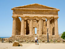 Antique Temple of Concordia Stock Image