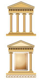 Antique Temple Facade. Antique temple illustration, isolated on white background Royalty Free Stock Image