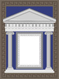 Antique Temple Facade. Antique temple illustration in Greek style frame Stock Image