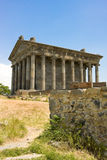 Antique temple in Garni, Armenia.Old Armenian pagan temple in I. n. e. in Armenia Royalty Free Stock Photography