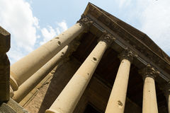 Antique temple of the Roman Empire. Vic Royalty Free Stock Photo