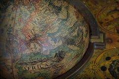 Antique terrestrial globe Stock Photos