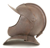 An Antique 17th Century English Close Helmet Stock Image