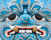 Antique Thai blue face giant Stock Image