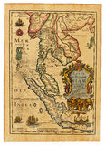 Antique Thailand map Royalty Free Stock Images
