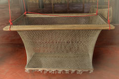 Antique Thaistyle cradle. Antique cradle in old Thai lifestyle. This is the one Thai cultue Stock Image