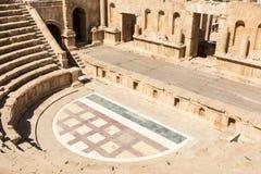 Antique Theatre. In ancient Roman city of Jerash, Jordan stock photography