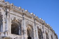 Antique theatre and arena, Nimes, France Royalty Free Stock Photo