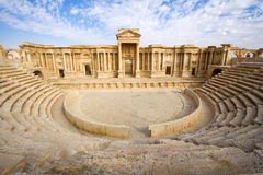 The antique theatre of Palmyra Stock Images