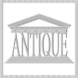 Antique theme, gray Royalty Free Stock Images