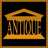 Antique theme logo Royalty Free Stock Photo