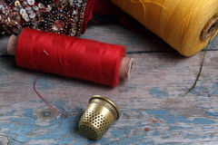 Antique thimble Royalty Free Stock Photos