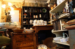 Antique things. An antique store in Bratislava Stock Photo