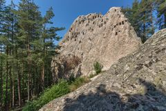 Antique Thracian Sanctuary Eagle Rocks near town of Ardino, Bulgaria. Antique Thracian Sanctuary Eagle Rocks near town of Ardino, Kardzhali Region, Bulgaria Royalty Free Stock Image