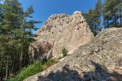 Antique Thracian Sanctuary Eagle Rocks near town of Ardino, Bulgaria. Antique Thracian Sanctuary Eagle Rocks near town of Ardino, Kardzhali Region, Bulgaria Royalty Free Stock Photo