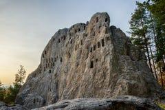 Antique Thracian Sanctuary. Eagle Rocks or `orlovi skali`, near town of Ardino, Kardzhali Region, Bulgaria Stock Photography