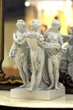 Antique three graces porcelain statue Royalty Free Stock Images