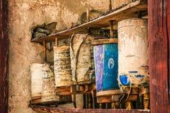 Antique Tibetan Praying Wheels Stock Image