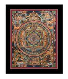 Antique tibetan tangka Royalty Free Stock Image