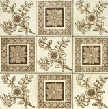 Antique tile Stock Image