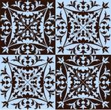 Antique tile wallpaper Stock Image