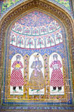 Antique tiled mosque wall  in Shiraz Stock Photography