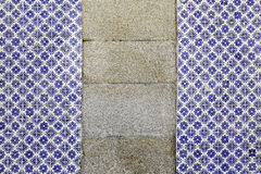 Antique tiles. Detail of a wall in the city of Lisbon Royalty Free Stock Photo