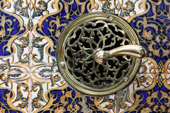 Antique tiles and locker Royalty Free Stock Images