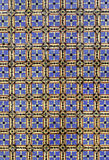 Antique tiles from Portugal. Detail of a wall in the city of Braga Royalty Free Stock Photography