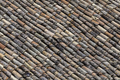 Antique tiles on a roof Royalty Free Stock Photography