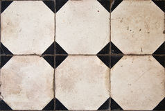 Antique tiles Stock Photography