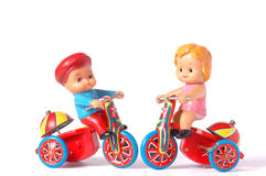 Antique tin toy Stock Images