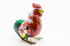Antique tin toy chicken stock photography