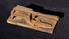 Antique tobacco cutter Stock Image